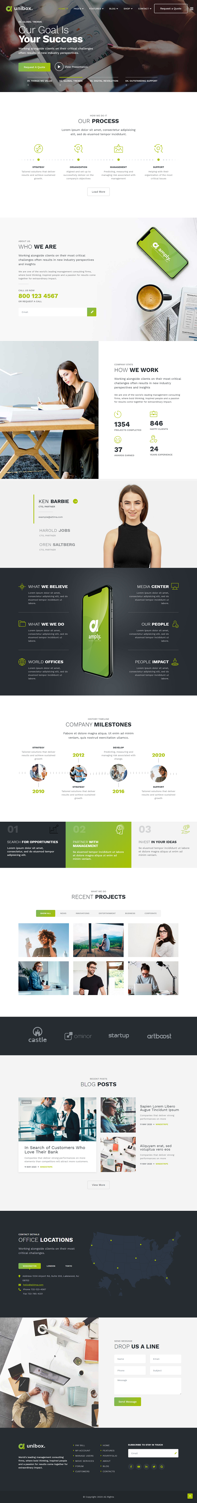 Unibox - Multipurpose Corporate Business Joomla Template - 2